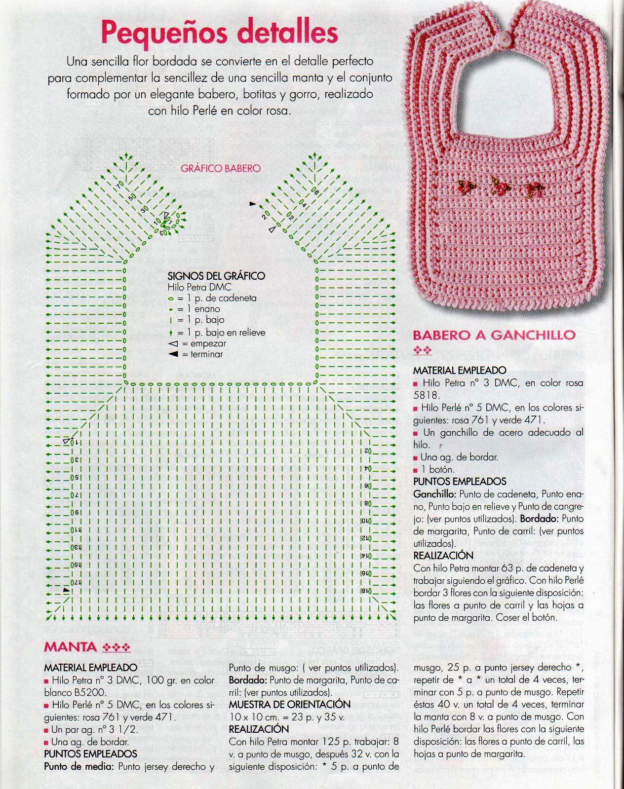 baberos crochet patrones - Buscar con Google   babero   Pinterest ...