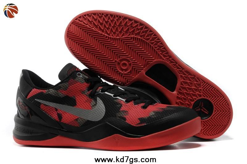 premium selection e9c15 f6d47 Fast Shipping To Buy Mesh Black Red Style Lifestyle Nike Zoom Kobe VIII (8)
