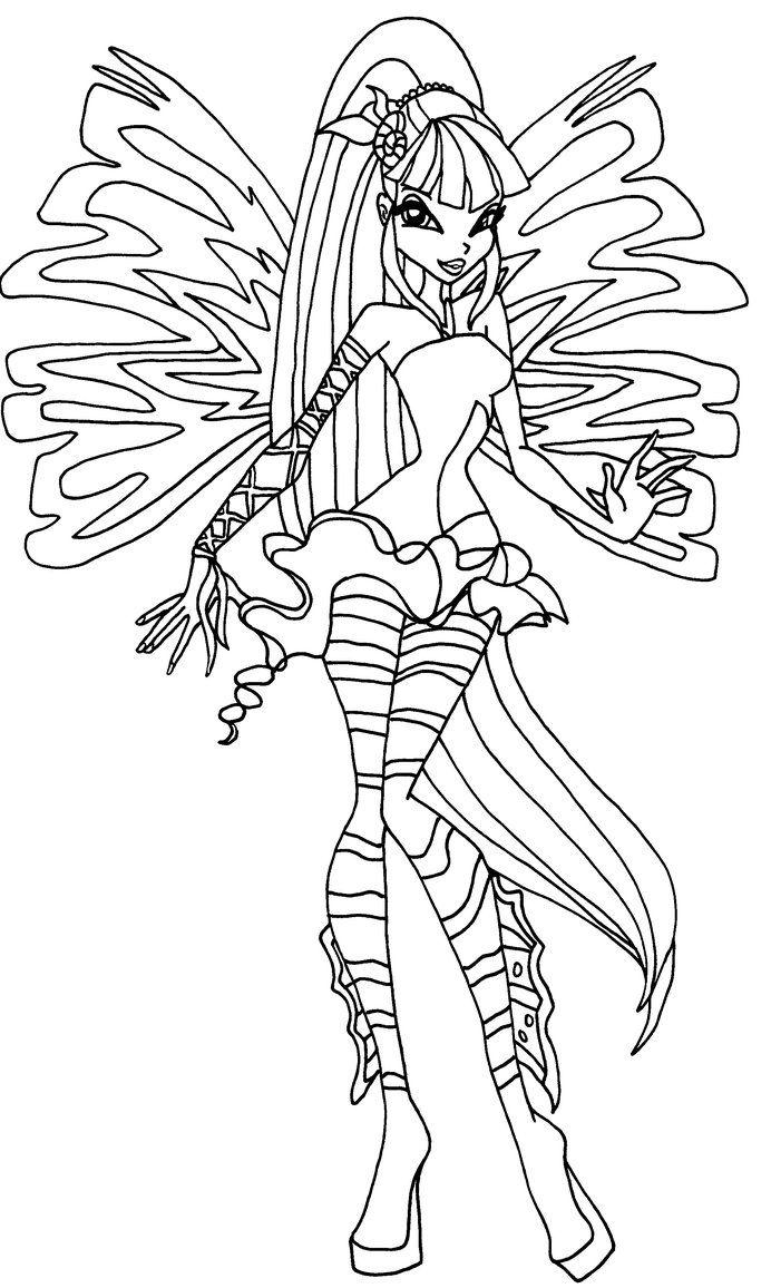 Winx Disegno Da Colorare Disegni Da Colorare