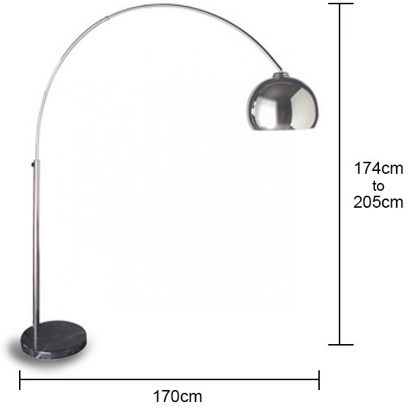 Large chrome arch floor lamp floor lamp image 2 wilson brown large chrome arch floor lamp floor lamp image 2 aloadofball Image collections