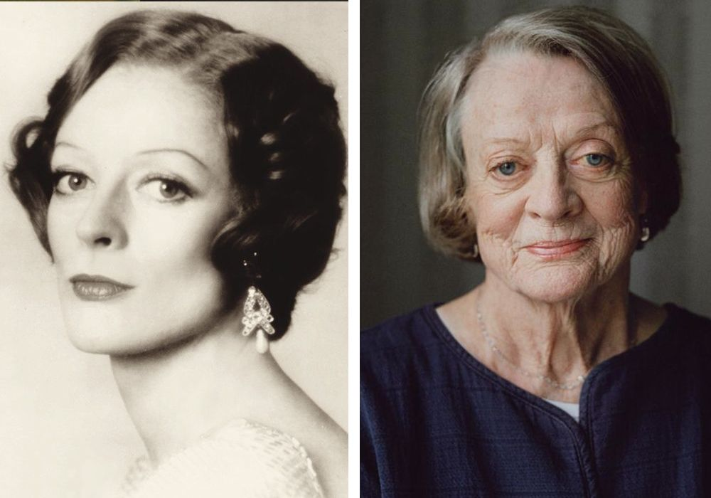 60s then and today maggie smith professor mcgonagall  is