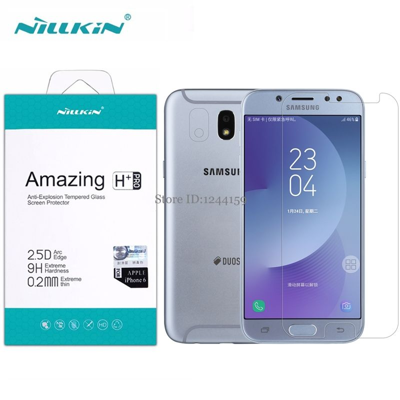 Glass For Samsung Galaxy J7 2017 Nillkin 0 2mm H Pro 2 5d Tempered Glass Protective Film For Samsung J7 2017 J7 Pro J730 Affiliate Galaxy Phone