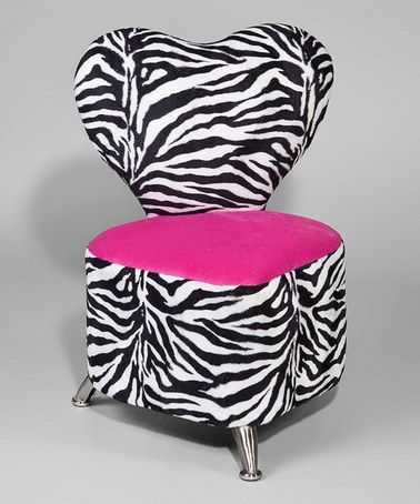 Pink U0026 Zebra Heart Chair By Funky Kids By Mauriciou0027s Furniture