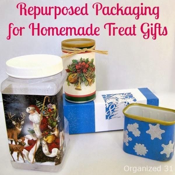Repurposed Packaging + Mod Podge for Homemade Treat Gift Giving