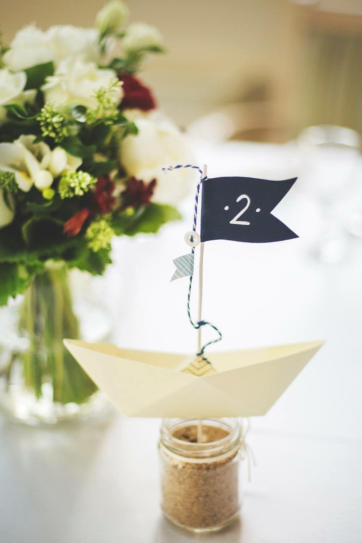 Table Number Boat Sea Theme Wedding Water Theme Wedding