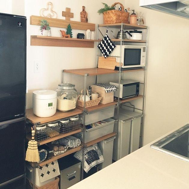 セリア 食器棚シート 「レース風」実例