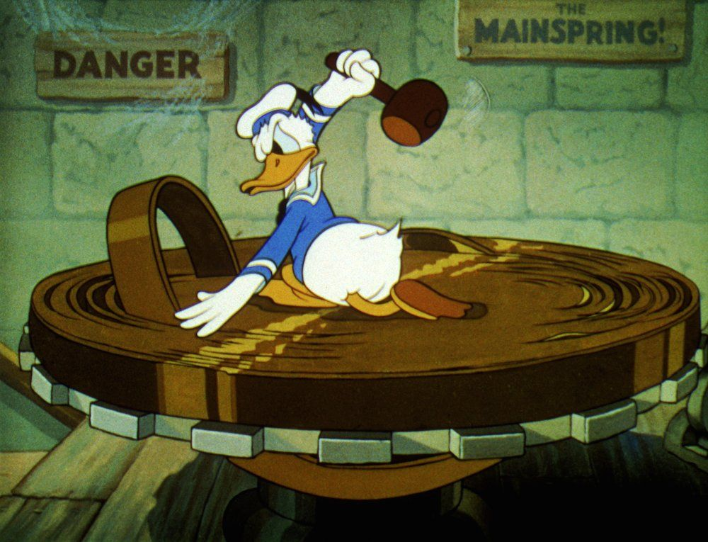 21 Jobs Donald Duck Has Attempted | Retro | Oh My Disney -- Clock Cleaner (Clock Cleaners, 1937)
