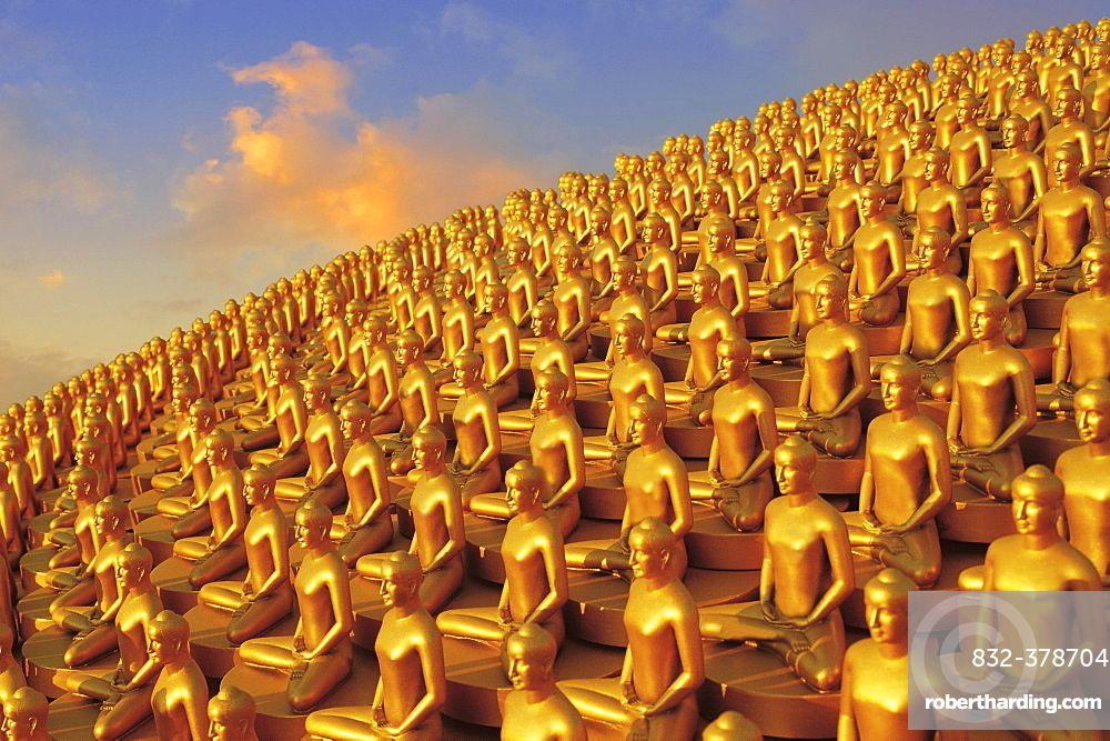 Million Golden Buddhas Wat Phra Dhammakaya Bangkok Thailand Yoga