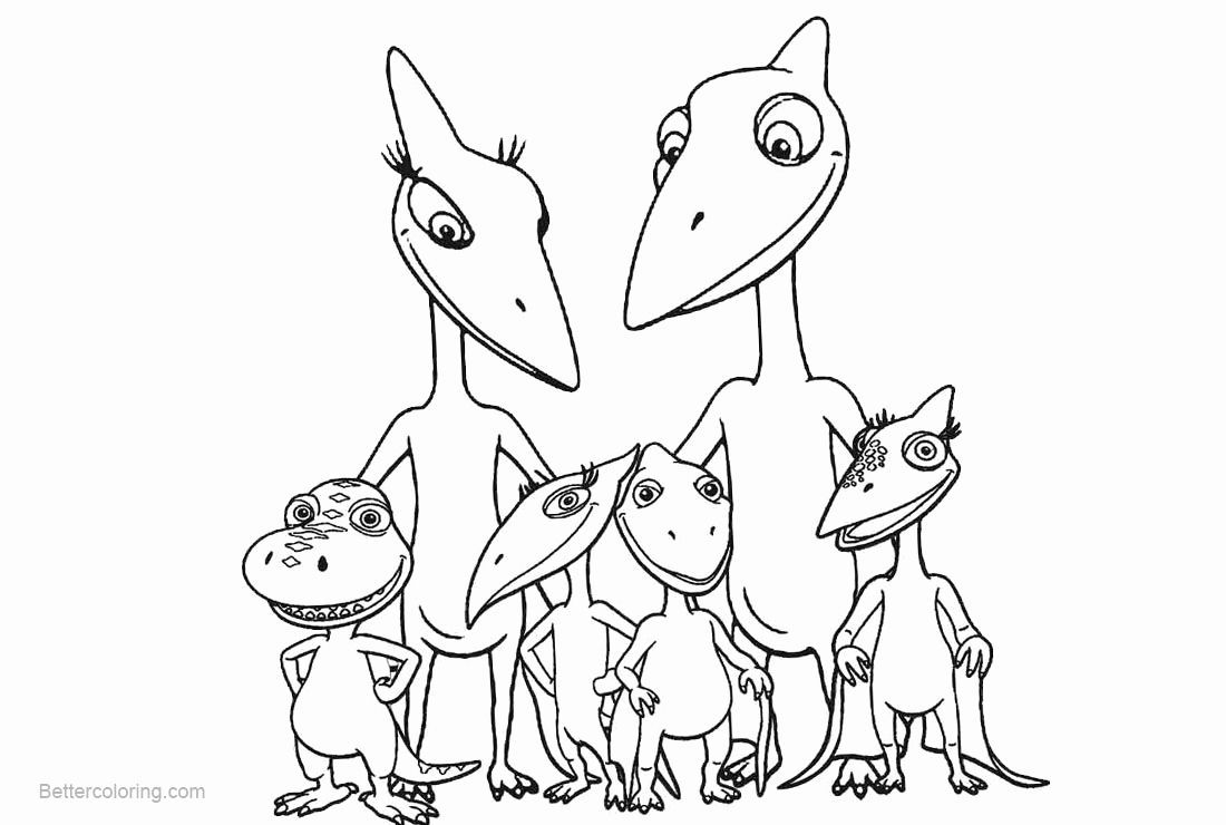 45++ Dinosaur train coloring pages online info