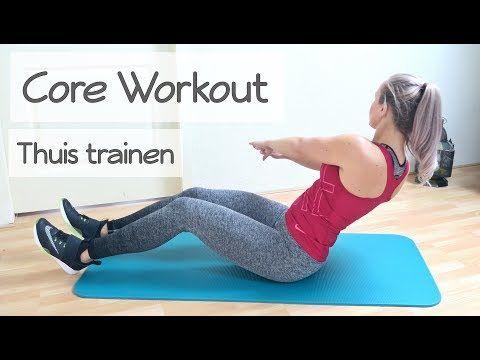 Core Workout - Thuis Onderrug en Buikspieren Trainen - YouTube #coreworkouts