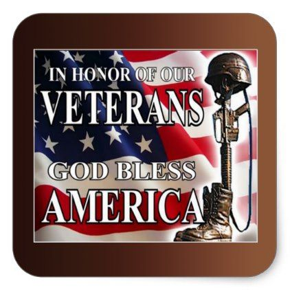 In Honor Of Veterans Day Stickers | Zazzle.com