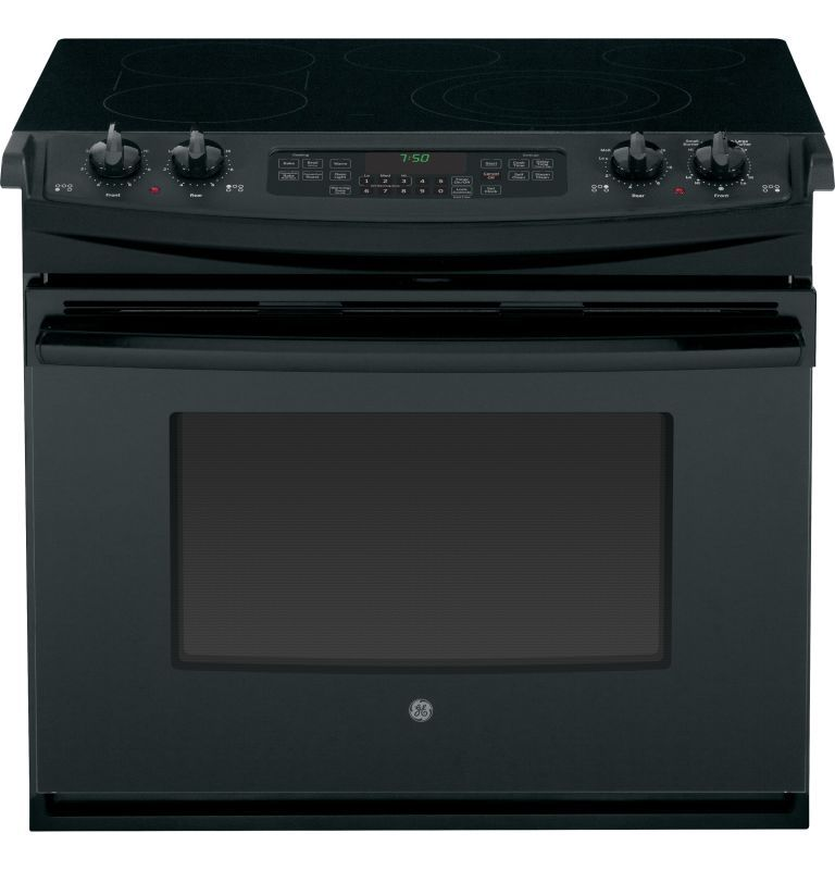 Ge jd750 30 dropin electric convection range with steam