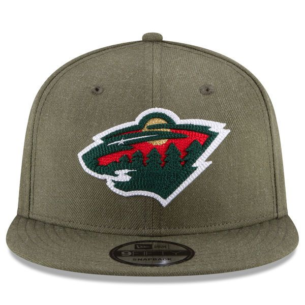 e8a8496ac69 Men s Minnesota Wild New Era Green Heather Crisp 9FIFTY Snapback Adjustable  Hat
