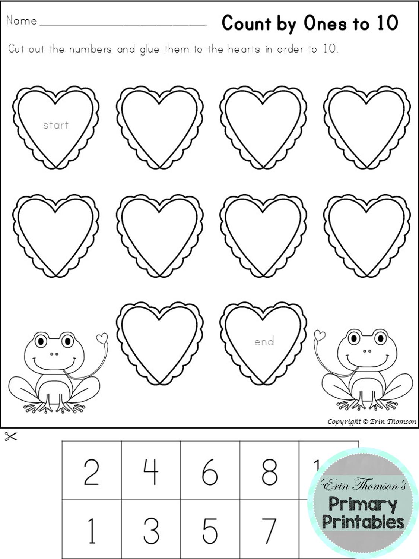 Kindergarten Math Valentine S Worksheets