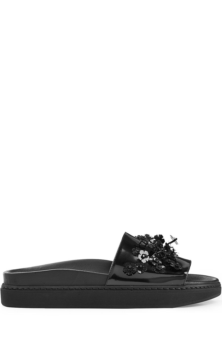 Black · SIMONE ROCHA Embellished Leather Sandals. #simonerocha #shoes # sandals