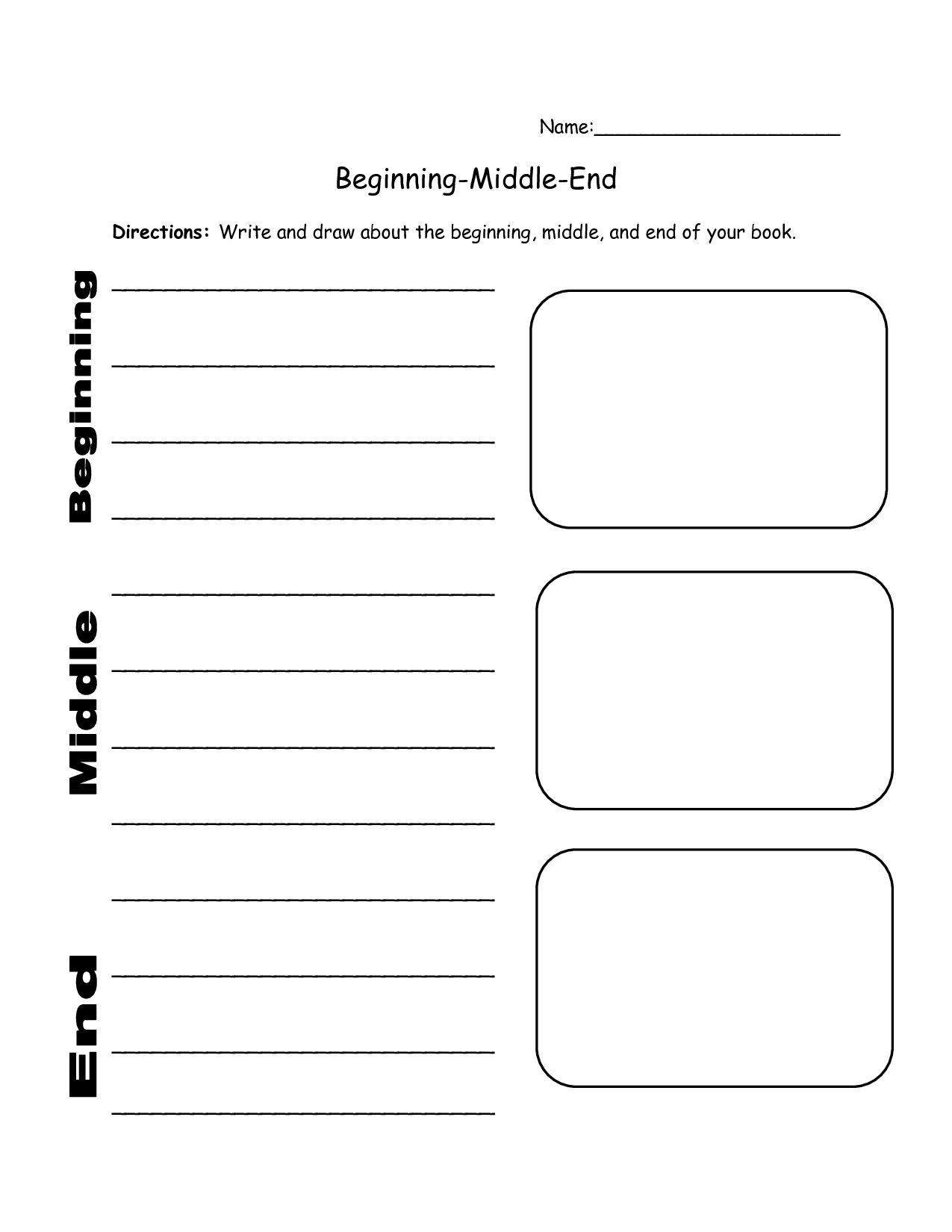 Beginning Middle And End | classroom | Pinterest | Middle, School ...