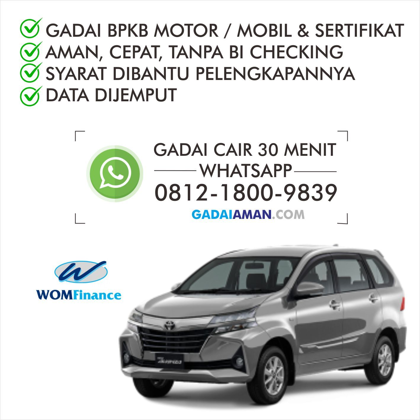 TERPERCAYA! WA: 0812-1800-9839 Gadai Fisik Mobil Tanpa ...