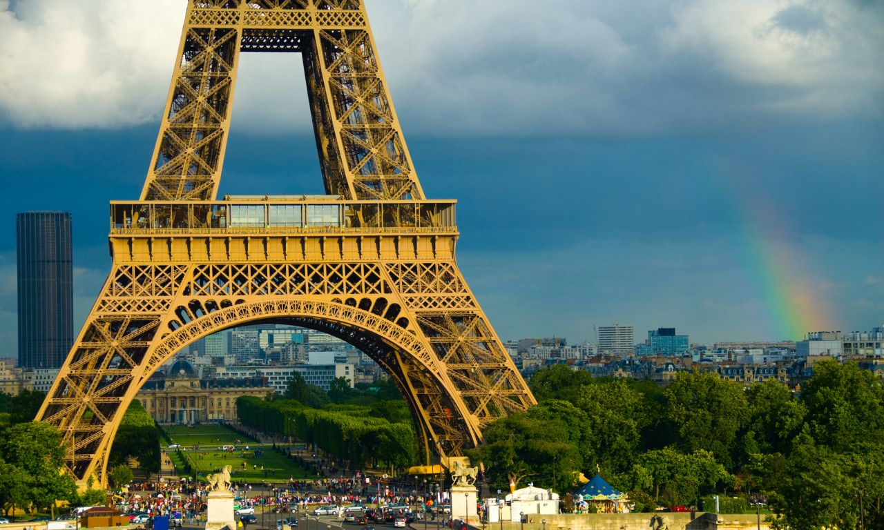 Rainclouds Gather Over The Eiffel Tower In Paris