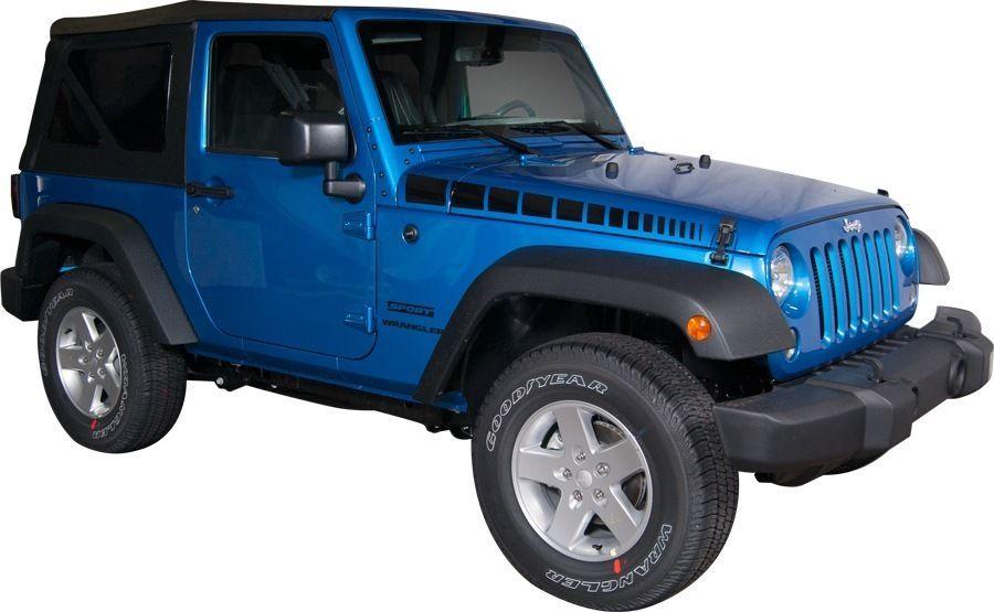 2007 2015 Jeep Wrangler Side Spear Strobe Stripe Vinyl