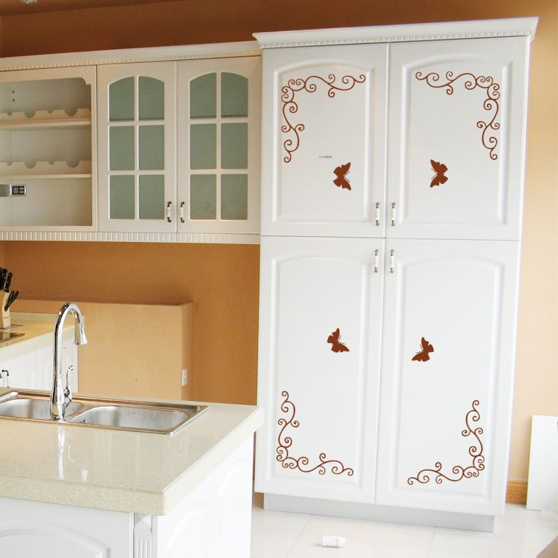kitchen cabinet decals roselawnlutheran kitchen cabinets on wall stickers for kitchen id=25711