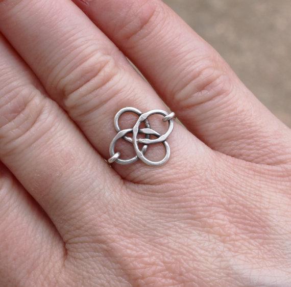 Anello nodo celtico Silver Sterling di Karismabykarajewelry