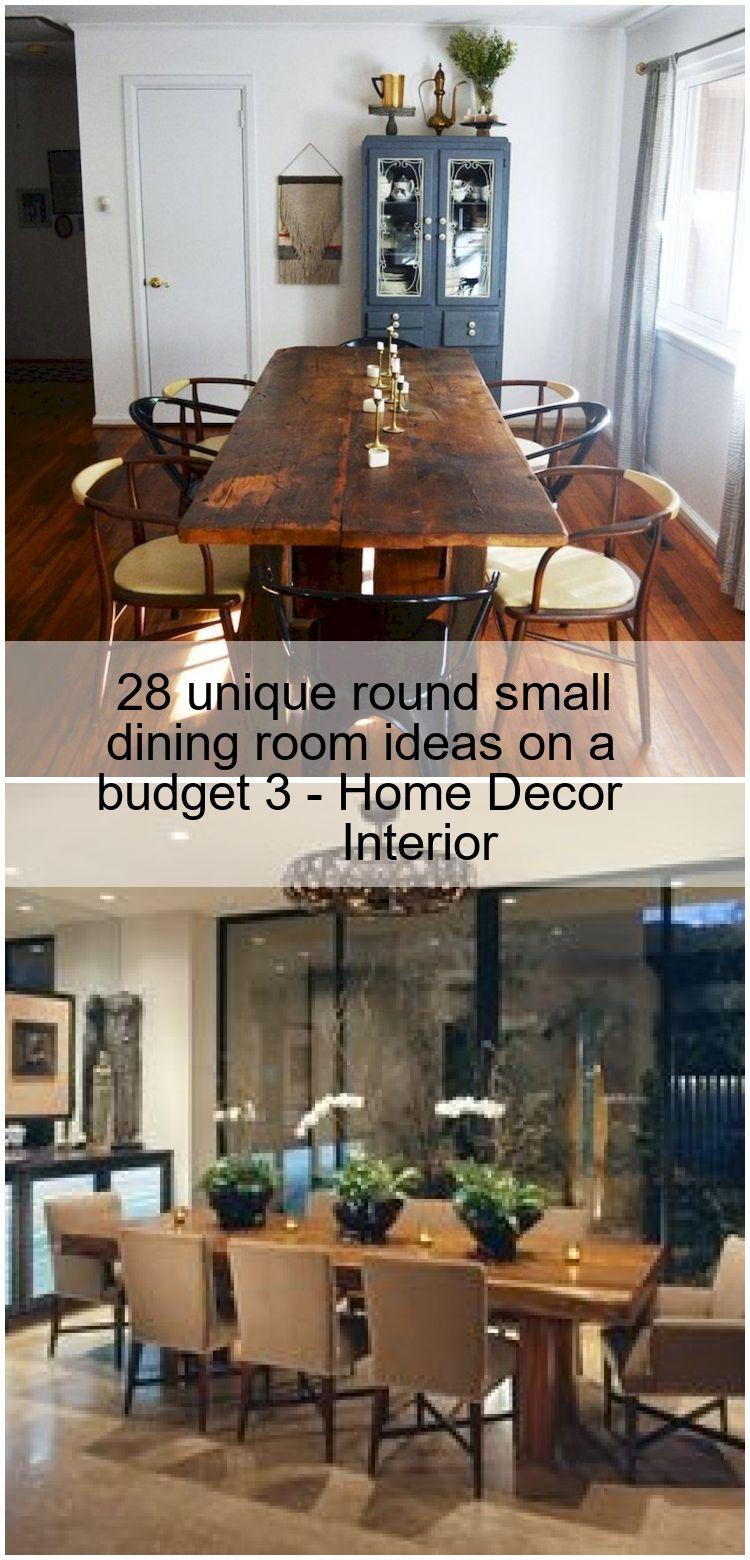 28 Unique Round Small Dining Room Ideas On A Budget 3 Home Decor Interior Esszimmer Dekor Esszimmer Zimmer