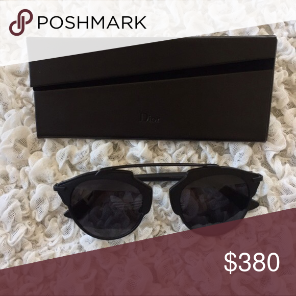 75986558bb Authentic DIOR so real sunglasses These are the matte black. Brand new with  tags with the black case. No authentication cards (I think they slipped out  of ...