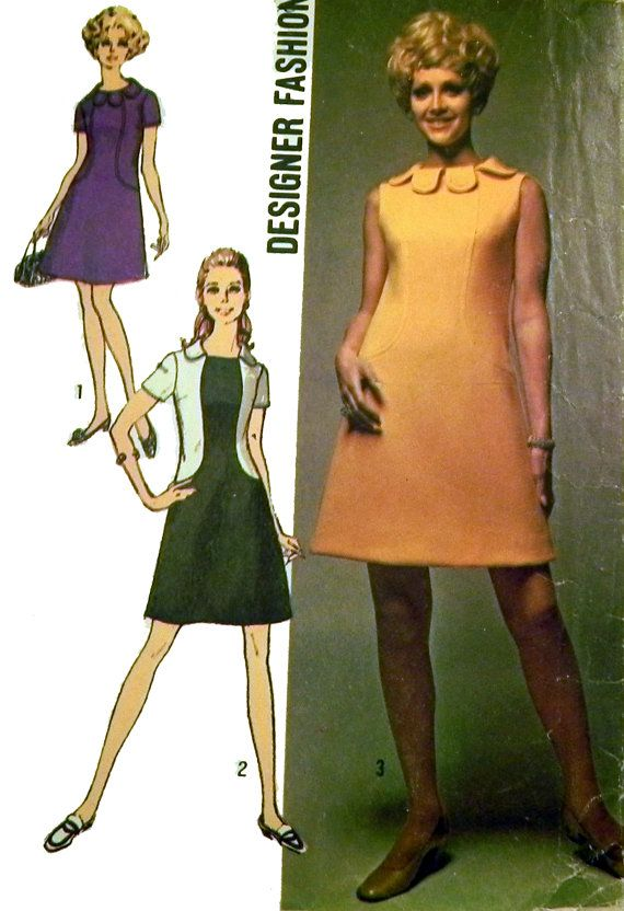 1960s Mod Sundress sewing pattern Simplicity by retroactivefuture, $8.00