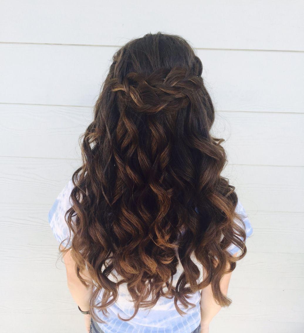 My Beautiful 8th Grade graduation hair | Grad hairstyles, Graduation hairstyles, Hairstyles for ...