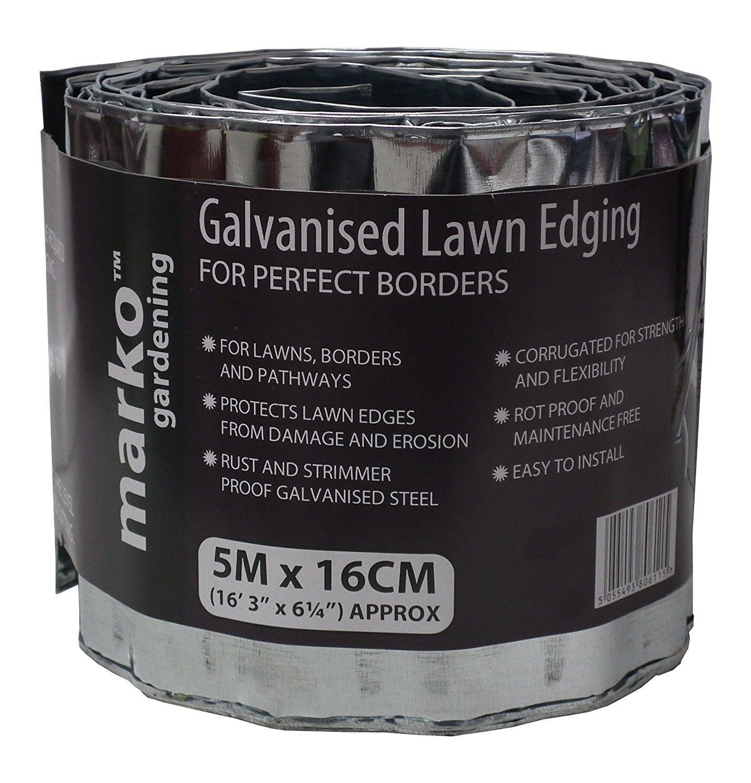 2X Galvanized Lawn Edging 5M X 16Cm Corrugated Garden 400 x 300