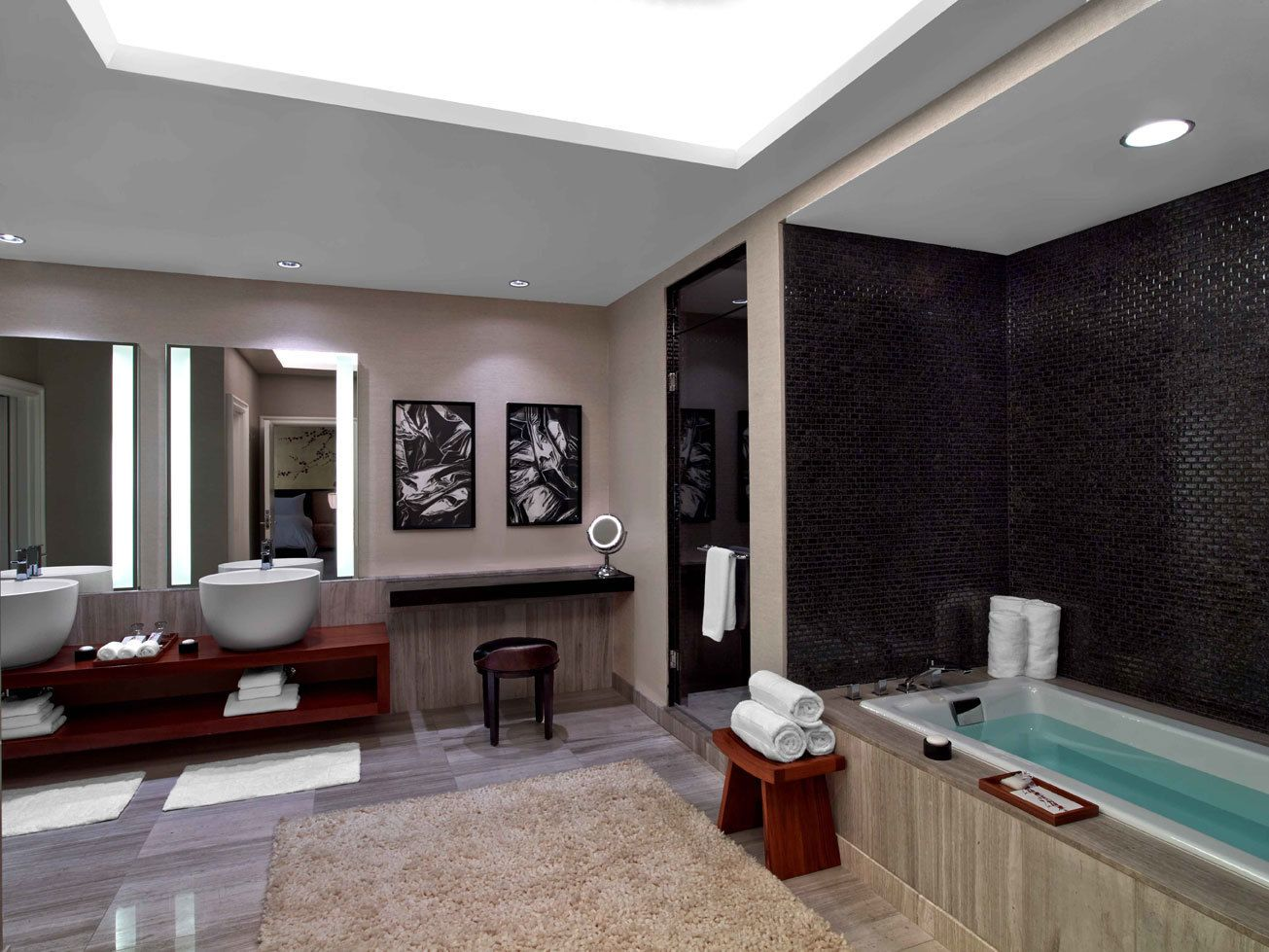 Spa Bathroom Suites Stay At Nobu At Caesarspalace In Vegas Inside The Hakone