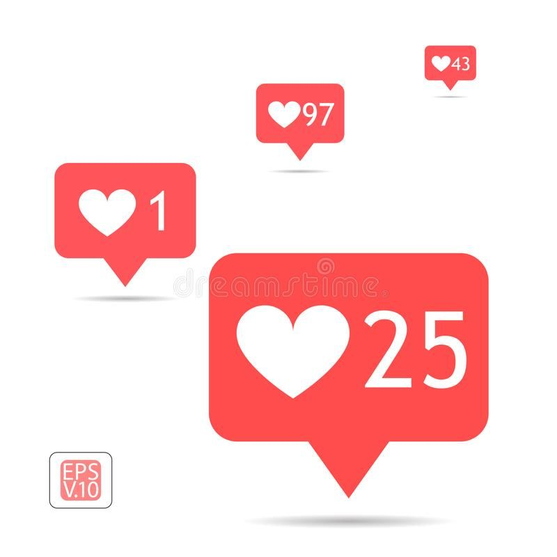 A Set Of Icons Counter Notifications Instagram Follower Icon Set Like 1 25 4 Sponsored Icon Follower Ico Instagram Like Symbol Instagram Followers