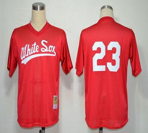 1990 mitchell and ness white sox robin ventura red throwback stitched baseball jersey
