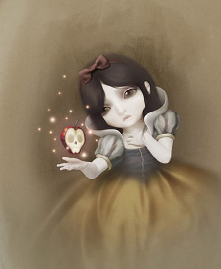 "Image detail for -Ltd. Art Gallery — ""Snow White"" by David Ho- Canvas (16"" x 21"")"