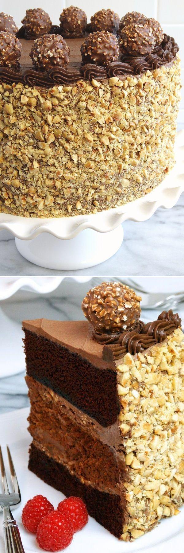 :) Chocolate Nutella Cheesecake Cake | Más en https://lomejordelaweb.es/