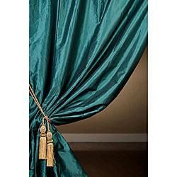 Teal Blue Silk Curtain Dupioni Silk Window By Zylstraartanddesign Teal Curtains Blue Curtains Curtains Living Room