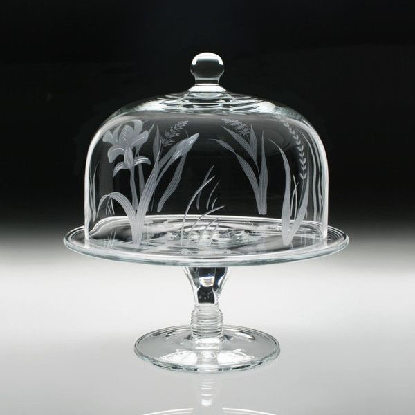 William Yeoward Crystal Meadow Cake Stand and Dome ($440) ❤ liked on Polyvore