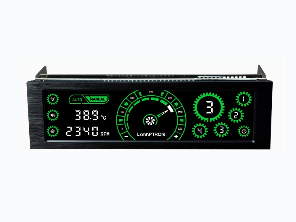 43.00$  Watch now  - Lamptron CM430 Driver Place Fan Speed Controller LCD Screen 4 Channels Water cooling fan speed regulator