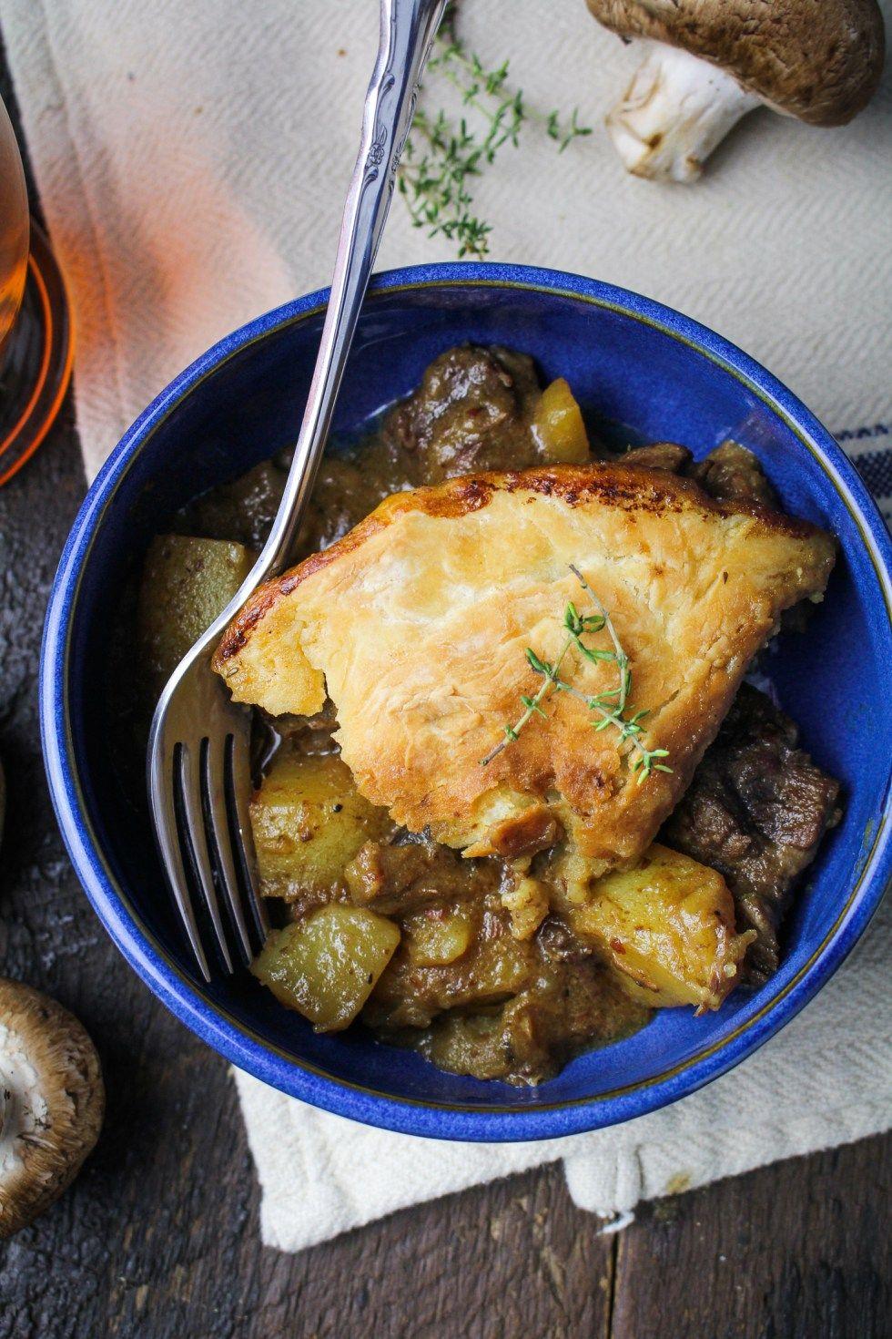 Beef, Mushroom, and Ale Pot Pie with Greek Gods Yogurt   Kitchen ...