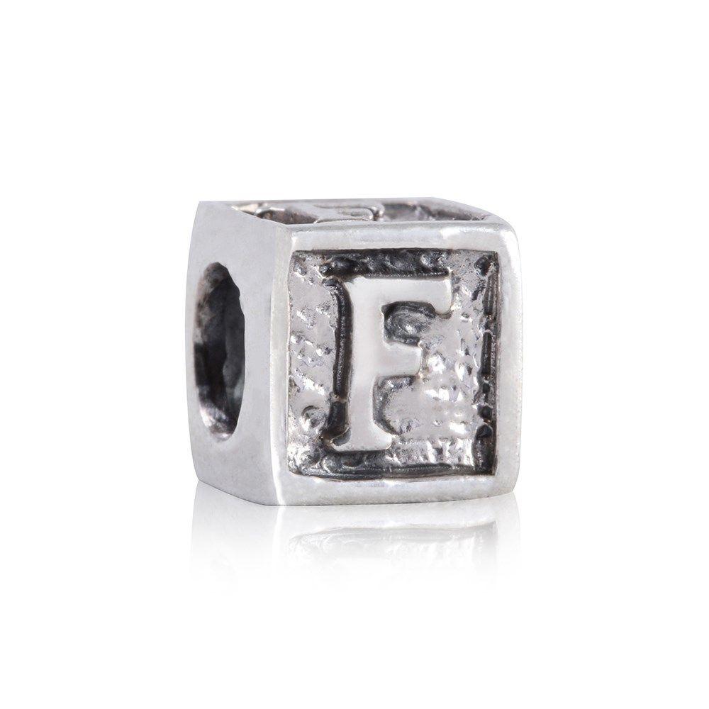 ac5cb8c4da0 Compre Berloque Prata Quadrado F na Rosana Joias   Relógios. Compra Segura  e Pagamento em Sem Juros. Confira Já!