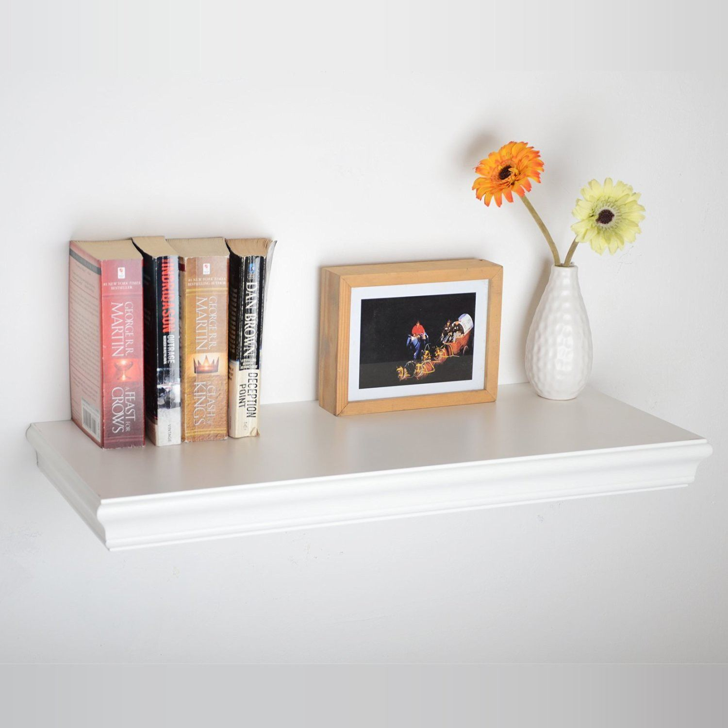 20 Inch Dover Wall Shelf White (White Color) For US$ 35.99 In Floating