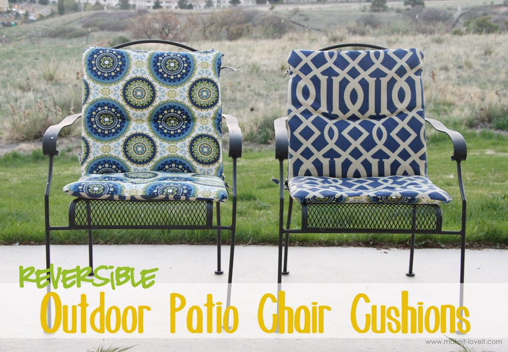 Make Your Own Reversible Patio Chair, Outside Patio Chair Cushions
