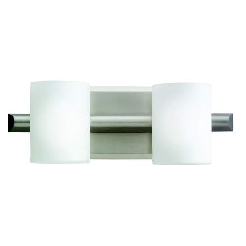 Kichler Tubes Brushed Nickel Halogen Two-Light Bath Fixture ...