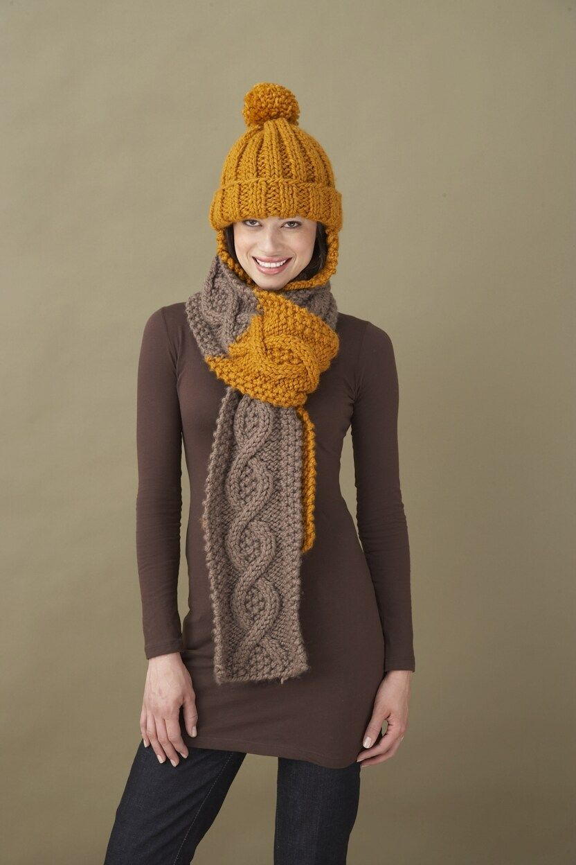 Love this Chunky Cable Scarf! #Free #Knitting #Pattern | Knit Chunky ...