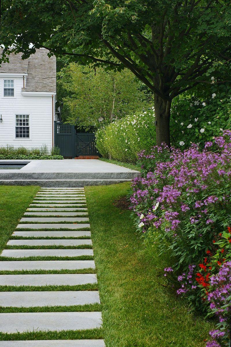 Granite Walkway Hotel Landscape Landscape Design Traditional Landscape
