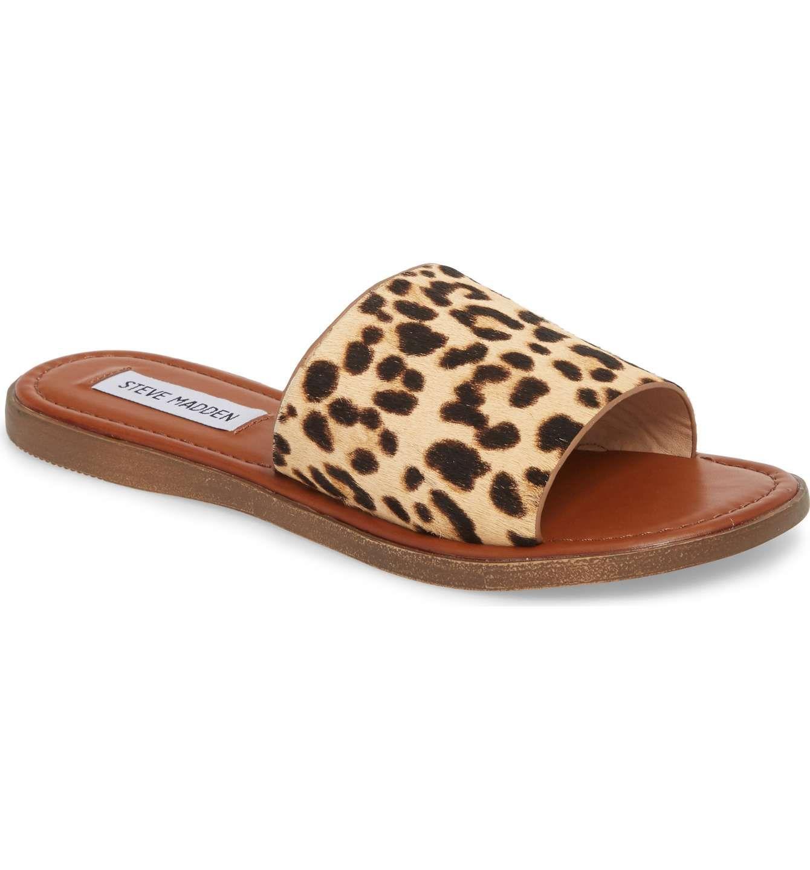 673b47a7b97 Steve Madden Camilla Genuine Calf Hair Slide Sandal | shoes in 2019 ...