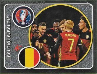 BELGIQUE BELGIO FIGURINA PANINI EURO FRANCE 2016 N.457 new TEAM
