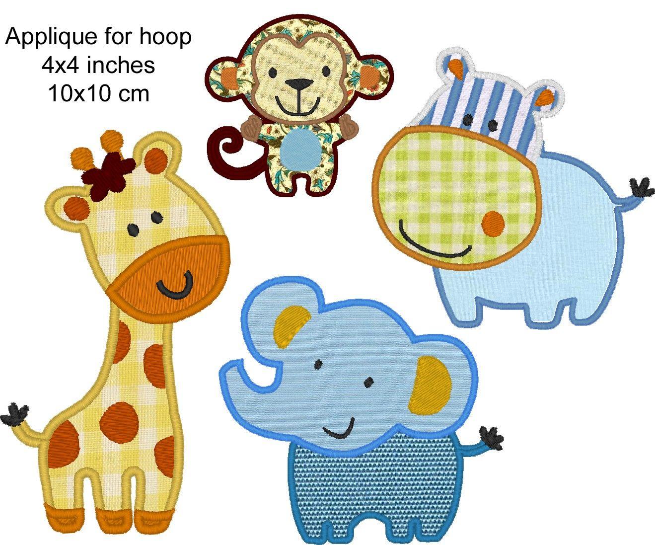 Wild Animals Elephant Monkey Giraffe And Behemoth