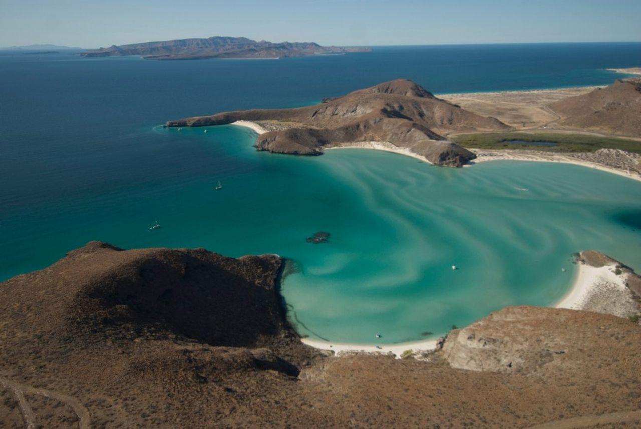 Bajasur Playa Balandra Playa Tecolote In Background And Isla Espiritu Santo Across The Channel Bcs Lapaz Mexico Beaches Dream Vacations Baja California