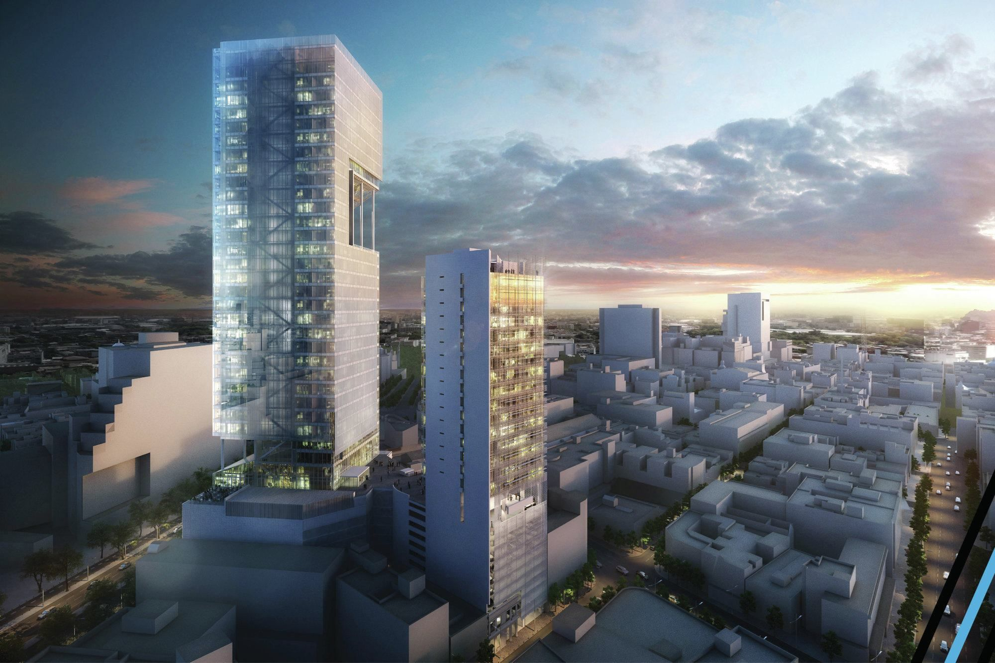 This new office and hotel complex in Mexico City was selected as an award winner in the 62nd annual Progressive Architecture Awards.